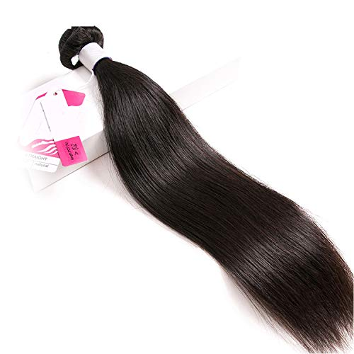 Ali Hot Brazilian Straight Human Hair 1 Piece Hair Weave Bundles 10-28 Inch Natural Color Non-Remy Hair,16 Inches