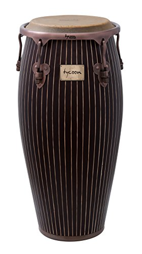 Tycoon Percussion 11 3/4 Inch Master Hand Crafted Pinstripe Series Conga With Single Stand by Tycoon Percussion