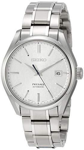 SEIKO PRESAGE Japanese paper pattern silver dial mechanical titanium SARX055 men's watch