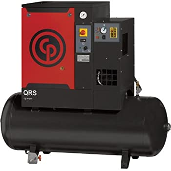 Chicago Pneumatic Quiet Rotary Screw Air Compressor with Dryer - 5 HP, 230 Volts, 1 Phase, Model# QRS5.0HPD-1