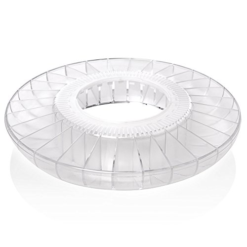 Ivation Pill Dispenser Tray, Clear