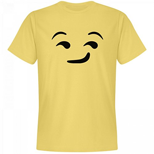 [Emoji Suggestive Face Costume: Unisex Next Level Premium T-Shirt] (Mean Girls Costume Group)