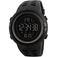 Mens Women Digital Sports Watch Ultra-Thin and Wide Angle Vision Design, 5ATM Swimming Waterproof, Countdown Dual Time…