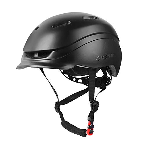 MOKFIRE Adult Bike Helmet with USB Rear Light, Bicycle Cycling Helmet CPSC Certified for Urban Commuter, Adjustable Lightweight Biking Helmet for Adults Men Women 22.44-24 Inches(Black) (Best Urban Commuter Bike)