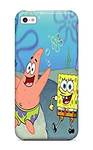 Premium Spongebob Squarepants Back Cover Snap On Case For Iphone 5c