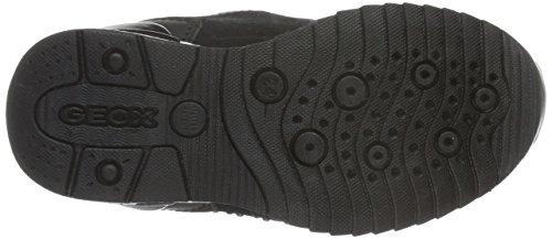 Geox J Maisie Girl C, Zapatillas Para Niñas Schwarz (BLACKC9999)