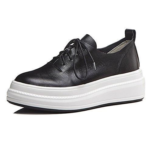 Respirant KJJDE De Femme Black Q1407 Chaussures Plateformes 37 WSXY Lacer Coins À Semelles YqtY0ar