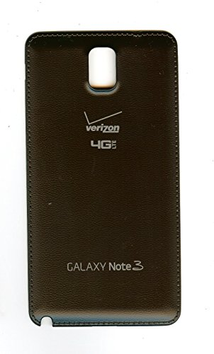 OEM Verizon Galaxy Note III, Note3 SM-N900V battery door, back cover **Black** (Certified Refurbished)