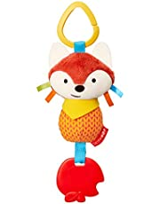 Skip Hop Bandana Buddies Baby Activity Chime & Teether Stroller Toy Stocking Stuffers, Fox