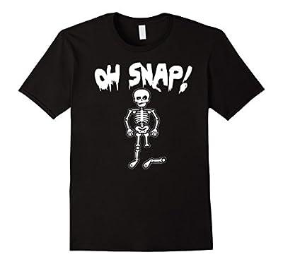 Oh Snap - Funny Skeleton Halloween T Shirt