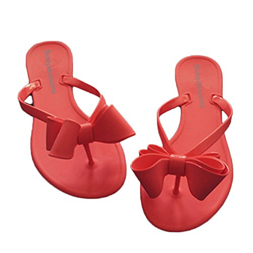 88f36a0a9fd77 Shoe N Tale Women Ribbon Bow Sandals Flip Flops Narrow Strap factory  outlets afd84 1223e ...