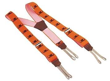 Sip Bretelles  agrave  boucles pour pantalon de b ucirc cheron  agrave   boutons Orange 77fd7d0cf902