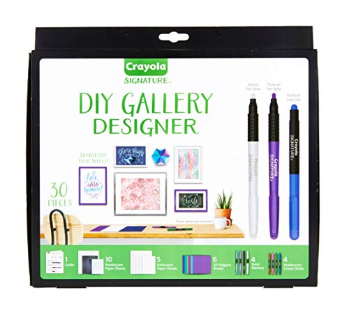 Crayola DIY Gallery Wall Art Set & Origami Kit, Craft Kit, Over 30Piece, Gift (With Paint Wall Art)