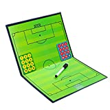 VORCOOL Football Soccer Magnetic Tactic Coach ClipBoard Foldable Coaching Strategy Tactic Board Kit Equipment and Portable Coach Tool