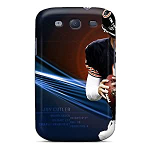 Scratch Protection Cell-phone Hard Covers For Samsung Galaxy S3 (PAJ3765DzmN) Allow Personal Design Colorful Chicago Bears Skin