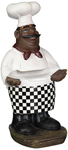 African American Fat Chef Kitchen Figure Statue Holding Serving Plate D64246 (Kitchen Chefs Statues compare prices)