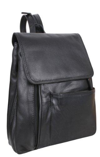LOUANA cuir noir Sac véritable dos 27x23x10cm à gTBOxqg