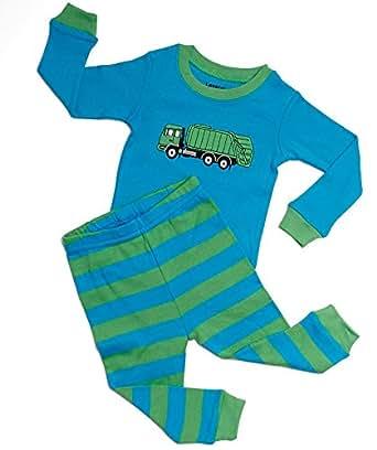 "Leveret ""Garbage Truck"" 2 Piece Pajama 100% Cotton (2 Years)"