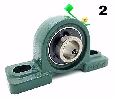"Two (2) UCP204-12 Cast Iron Pillow Block Mounted Bearings - 3/4"" Inch Inside Diameter w/ Set Screw Lock - P204"