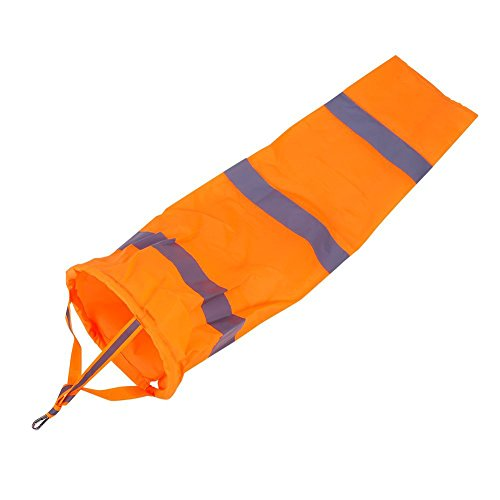 80cm Aviation Windsock Rip-stop Outdoor Wind Measurement Sock Bag with Reflective Belt