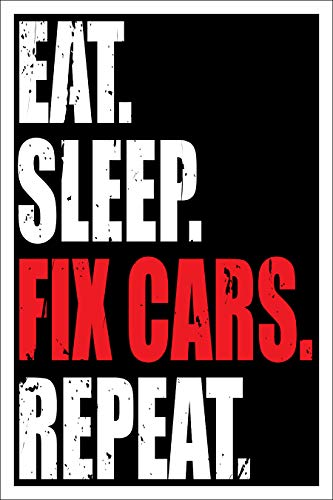 Spitzy's Eat Sleep Fix Cars Repeat 12 by