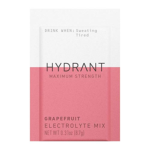 HYDRANT Hydration Drink Mix for Daily Energy Version 1, Electrolyte Powder, 20 Calories Per Serving, Vegan Drink, Hydration Made Easy, Grapefruit, Pack of 10 3