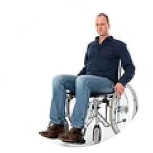 alfombrilla de ratón hombre joven en silla de ruedas - ronda - 20cm