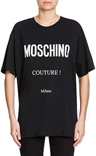 Moschino Luxury Fashion Donna A070905402555 Nero Cotone T-Shirt | Stagione Permanente