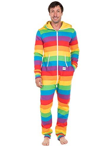 Tipsy Elves Comfy Rainbow Jumpsuit Costume