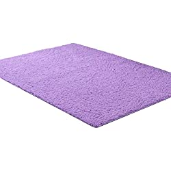 Aicehome Area Rug,Soft Girls Bedroom Rug 4 Feet by 5.3 Feet (Purple)