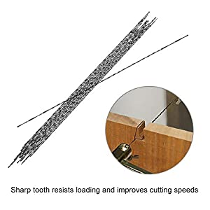 12 Pieces Scroll Saw Blades With Spiral Teeth for Wood Metal Plastic Cutting Sawing Carve Fits Most of Major Saw Brands Bosch, Dewalt, Makita, etc. (7#) (Color: 7#)