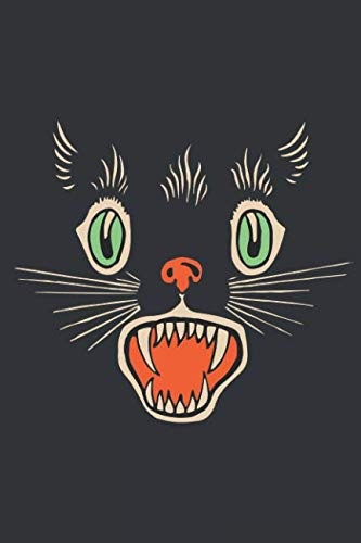 Notebook: Vintage Halloween Scary Black Cat Horror Journal & Doodle Diary; 120 Dot Grid Pages for Writing and Drawing - 6x9 in. ()