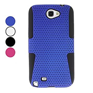 Detachable Grid Style Hard Case for Samsung Galaxy Note 2 N7100 (Assorted Colors) --- COLOR:Black