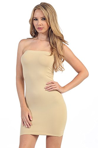Kurve Strapless Stretchy Comfort Mini Sexy Tube Dress, UV Protective Fabric, Rated UPF 50+ (Made with Love in The USA)