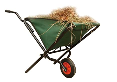 Charles Bentley Garden Cart Folding Wheelbarrow Foldable Hand Truck  Lightweight 50kg Capacity