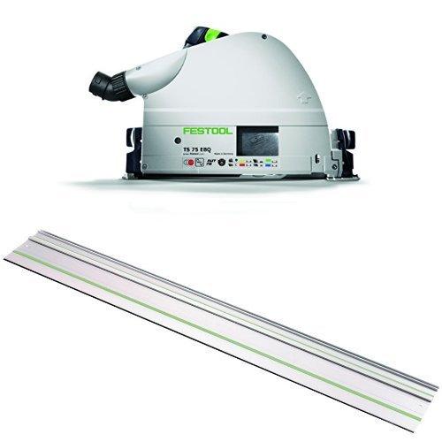 Festool 575390 TS 75 EQ Plunge Cut Track Circular Saw w 75 Guide Rail