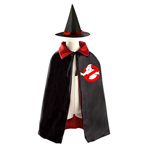 Ghostbusters Costume Diy (DIY Ghostbusters logo Costumes Party Dress Up Cape Reversible with Wizard Witch Hat)