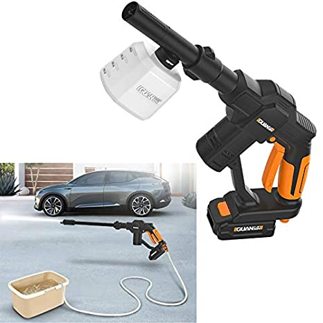12V Portable Cordless Pressure Cleaner Car Washer Variable Nozzle Lance 130 PSI