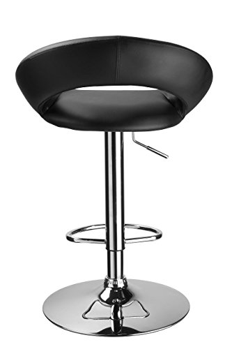 Duhome 2 PCS Black Barstools Contemporary Synthetic Leather Swizzle Swivel Hydraulic Adjustable Bar Stools Kitchen Counter Top Chair #4175 by Duhome Elegant Lifestyle (Image #3)'
