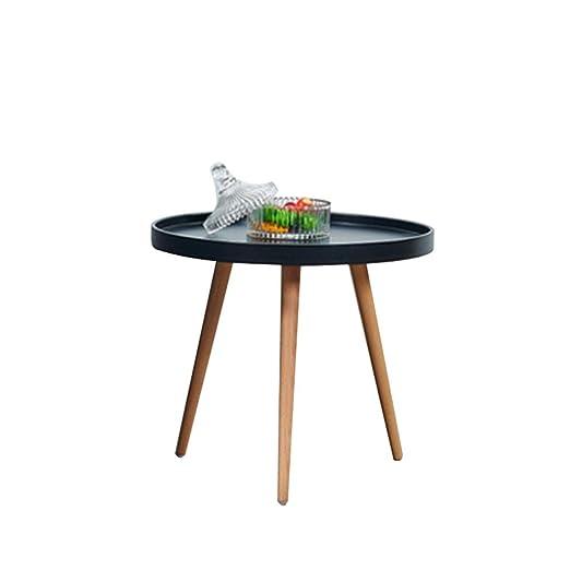 XZGang Balcón Mesa de café, tres pies de plástico pequeña mesa ...