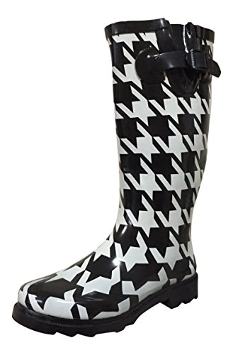 Boots Rain Large MSTKH Rubber Houndstooth Womens PSW gtxqwRaI4