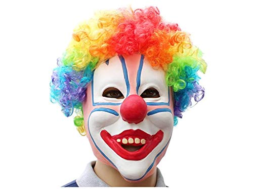 Junson Happy Funny Latex Clown Mask Halloween Tricky Mask for Masquerade Birthday Party (Colorful) for Halloween