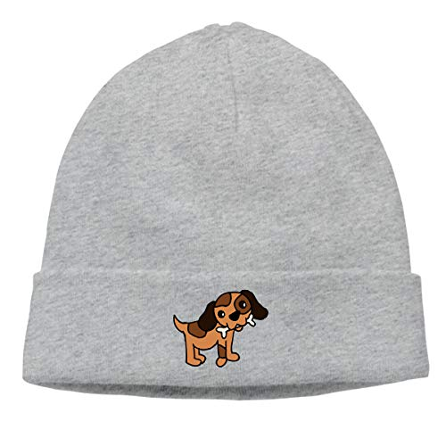Hip-Hop Knitted Hat Mens Womens Baby Dog Eat Bone Unisex Cuffed Plain Skull Knit Hat Cap Head Cap