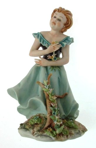 Capodimonte Girl Figurine in Blue Dress Germano cortese 100 - NEGR32