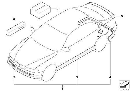 Bmw Genuine Aerodynamic Rear Spoiler Primed 82 63 9 410 900