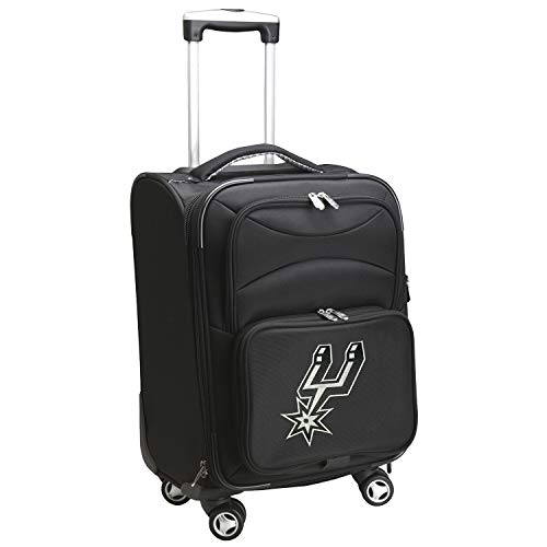 Denco NBA San Antonio Spurs Domestic Carry-On Spinner, 20-Inch, Black