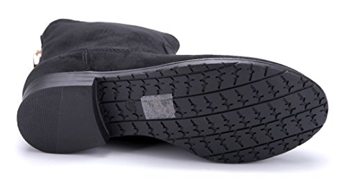 Schuhtempel24 Damen Schuhe Klassische Stiefeletten Stiefel Boots Blockabsatz Reißverschluss/Schlupf 3 cm Schwarz