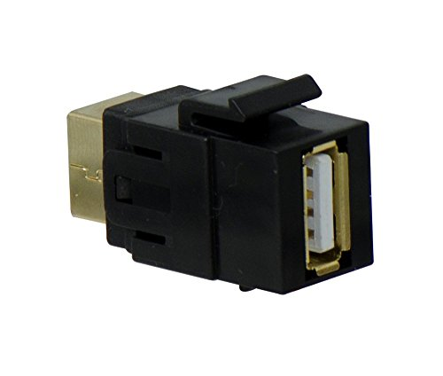 - Legrand - On-Q WP1221BK USB 2.0 A/B Coupler Keystone Insert, Black
