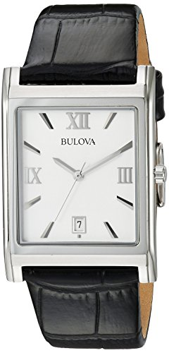 (Bulova Men's 96B107 Strap Silver Dial Watch)