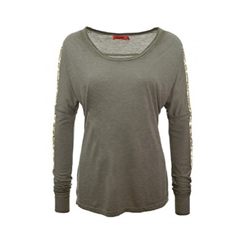 Langarm Shirt Michaela - von Miss goodlife - Farbe Khaki messing